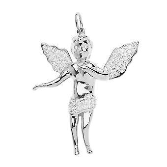 Premium Bling - 925 Ayar Gümüş Melek Kolye