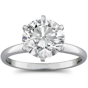 2 1/15ct Round Diamond Solitaire Engagement Ring 14K White Gold