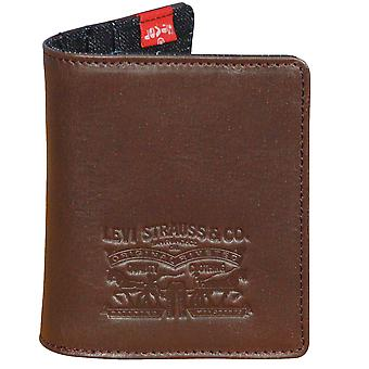 Levi Strauss Leather and Denim Wallet ~ Card Wallet