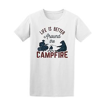 Das Leben ist besser um Lagerfeuer T-Shirt Herren-Bild von Shutterstock