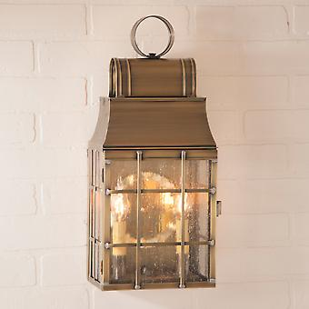 Irvin's Country Tinware Washington Wall Lantern in Weathered Brass