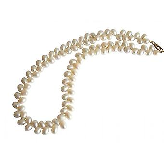 Pearl Necklace Pearl Necklace DOROTHEA kralen ketting 42 cm Wit