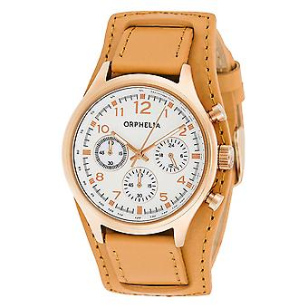 ORPHELIA Ladies Chronograph Watch Vogue Brown Leather 81504