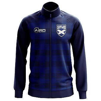 Шотландии Tartan концепции Футбол трек куртка (ВМС) - дети