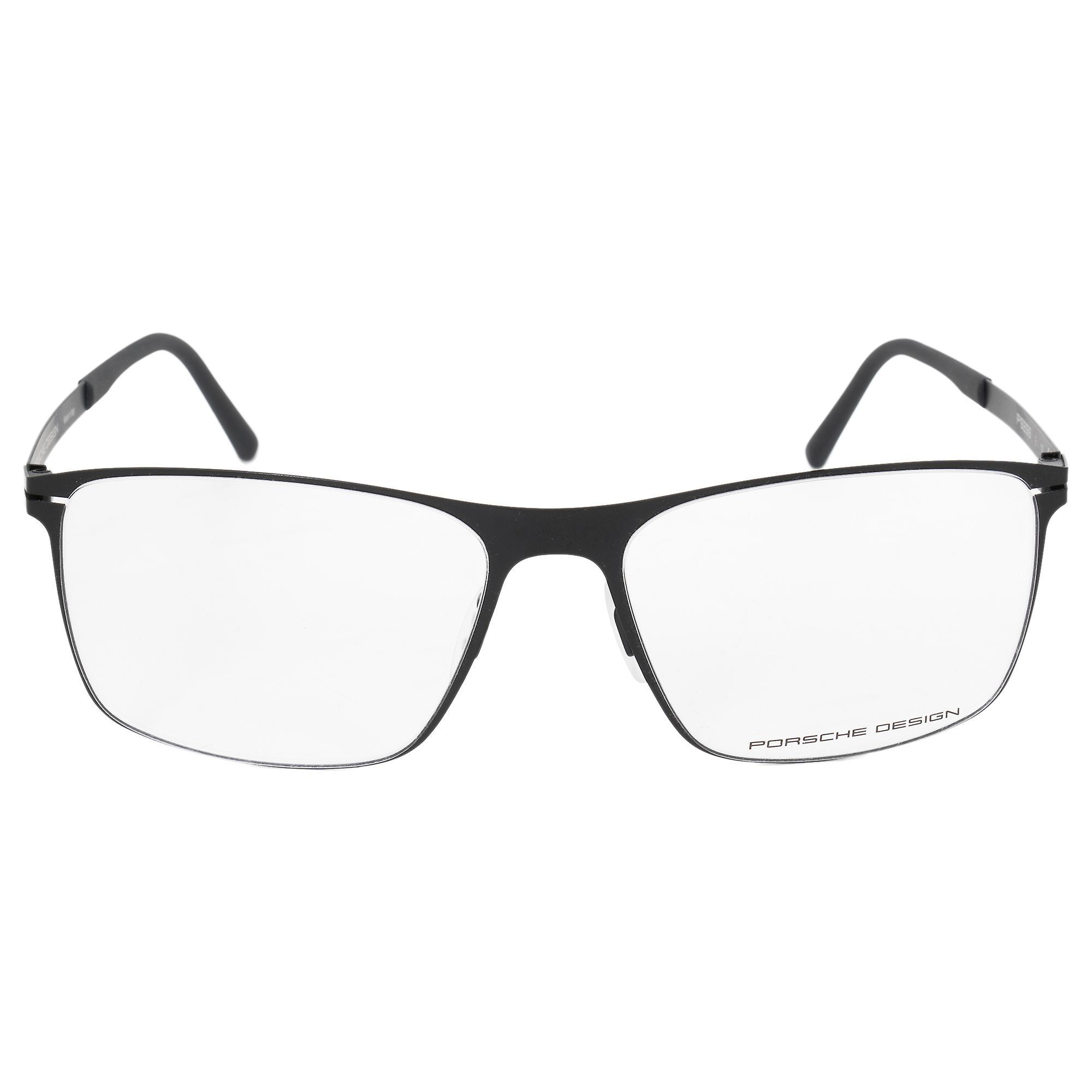 Porsche Design P8256 E Square   Matte Black  Eyeglass Frames