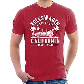 Official Volkswagen West Coast California White Text Men's T-Shirt