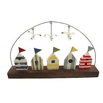 Shoeless Joe Beach Hut and Seagull Nautical Home Decoration