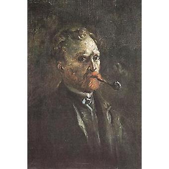 Zelfportret met pijp, Vincent van Gogh, 27x19cm