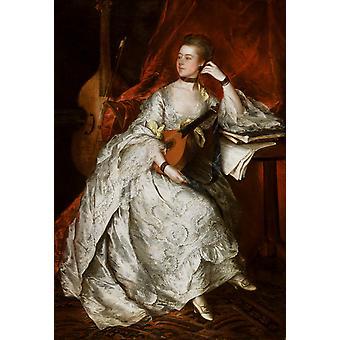 Miss Anne Ford, Thomas Gainsborough, 60x40cm