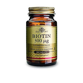 Solgar Biotin 300 mcg Tablets 100 Ct
