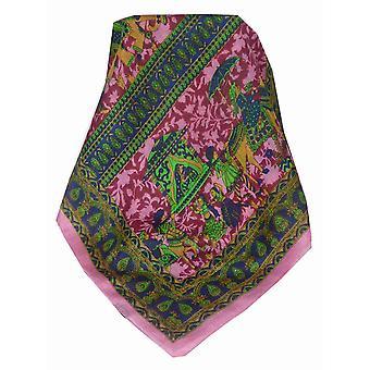Moerbei zijde traditionele lange sjaal Tambdi Pink door Pashmina & Silk