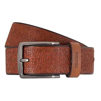 MIGUEL BELLIDO sports wear belts men's belts leather belt Cognac 7701