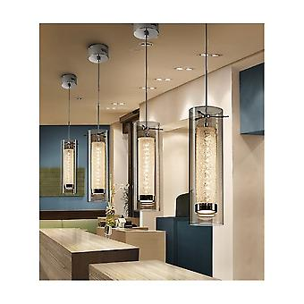 Schuller Zila 7.2W LED Modern Glass Tube Pendant
