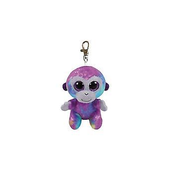 Ty Beanie Babies Boo's Zuri the Monkey Key Clip