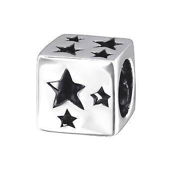 Star - 925 Sterling Silver Plain Beads - W2170x