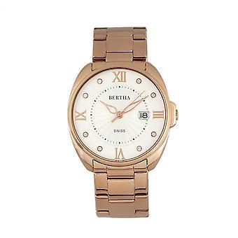 Bertha Amelia armband Watch w/datum - Rose Gold