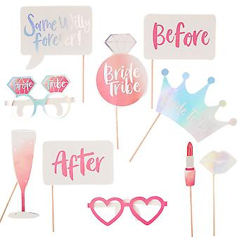 Photo Booth Props - Bride Tribe - Hen Party x 10