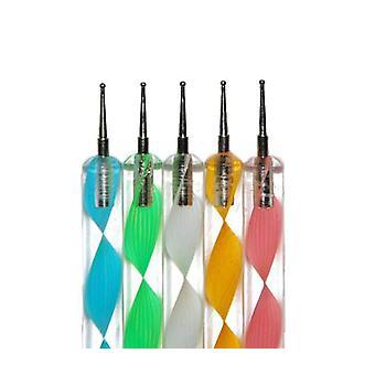 5pcs øremærkninger værktøj penne negle manicure søm kunst manicure