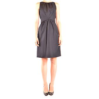 Alberto Aspesi Ezbc067097 Women's Black Cotton Dress