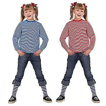 Stripy shirt long sleeve yarn dyed blue/white