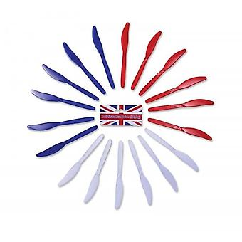 Union Jack Wear Red White & Blue Knives.