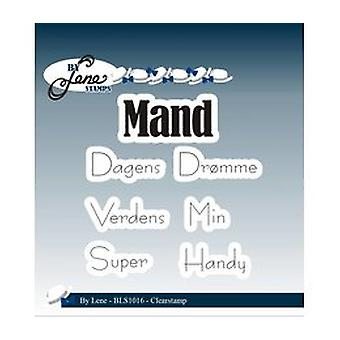By Lene Clear Stamps Danish Text - Mand