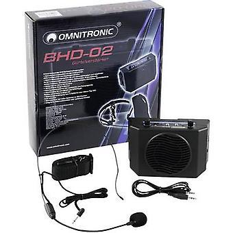 Omnitronic BHD-02 Portable PA speaker 5 cm 2  battery-powered 1 pc(s)