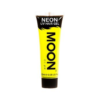 Moon Glow - 20ml Neon UV Hair Gel - Temporary Wash-out Hair Colour - Yellow