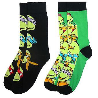 Men's Teenage Mutant Ninja Turtles Assorted Socks (2 Pairs)