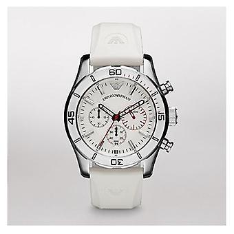 Emporio Armani Ar5947 - White Sportivo Chronograph Mens Watch