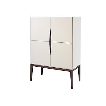 Gillmore Luksusowy Ivory White Tall Sideboard