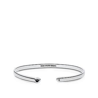Vegas Golden Knights Engraved Sterling Silver Black Onyx Cuff Bracelet