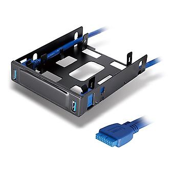 DYNAMODE 2.5-inch SSD/HDU Bracket and 2-Port USB3.0 Hub Combo for 3.5-inch Bay