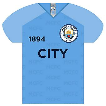 Manchester City FC Shirt Shaped Sign