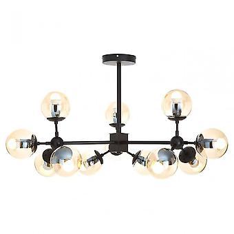 Premier Home Abira 12 Bulb Pendant Light, Black