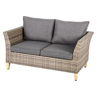 2-zits lounge bank - rattan