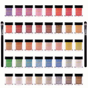 SHANY lose Perle Lidschatten Glitter in Lieblingsfarben mit zwei Schatten Pinsel - Set von 40 Farben
