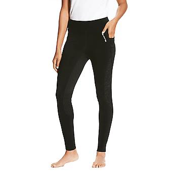 Ariat Womens Prevail Insulated Full Seat Tights - Black Reflective