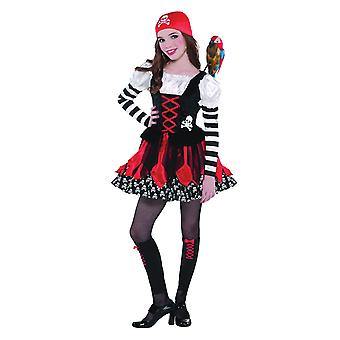Mädchen Crossbone Cutie Pirate Fancy Kleid Kostüm (Alter 3-5)