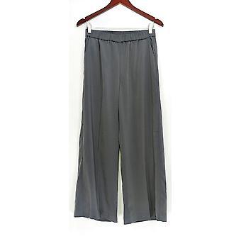 Susan Graver Mujeres's Pantalones Estiramiento Tejido De pierna ancha Gris A343092