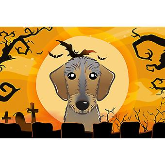 Carolines Treasures BB1791PLMT Halloween Wirehaired Dachshund Fabric Placemat