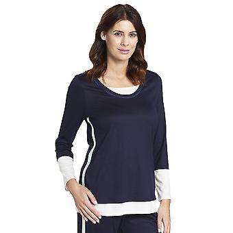 Rosch 1193752-11436 Women's Pure Denim Blue Cotton Pyjama Top