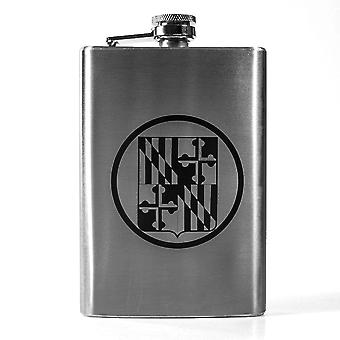 8oz state national guard - maryland flask l1