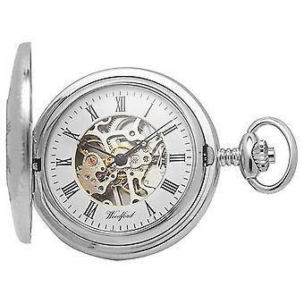 Woodford | Half Hunter | Chrome Plated | Skeleton | Pocket | 1020 Watch
