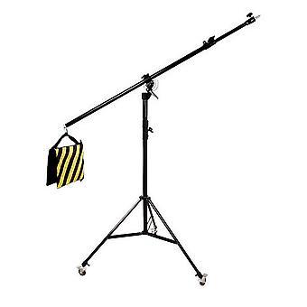 BRESSER BR-LB300 Lampenstativ mit Schwenkarm und Rollen