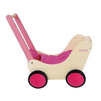 Simply for Kids Houten Poppenwagen Roze