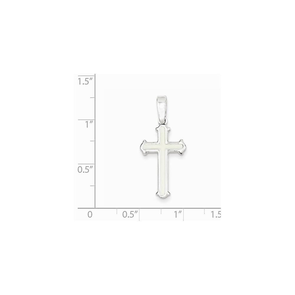 925 Sterling Silver Solid Flat back Polished Religious Faith Cross Pendant Necklace Jewelry Gifts for Women