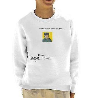 A. P. O. H Vincent van Gogh man skal arbejde og tør citere kid ' s sweatshirt