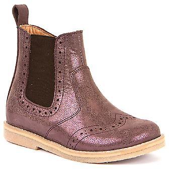 Froddo Girls G3160100-8 Chelsea Boots Pink Metallic