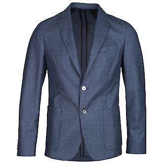 BOSS Nold Virgin Wool Ocean Blue Anzug Jacke